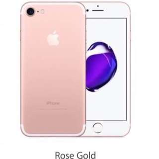 Ready!!  Iphone 7+ rose gold