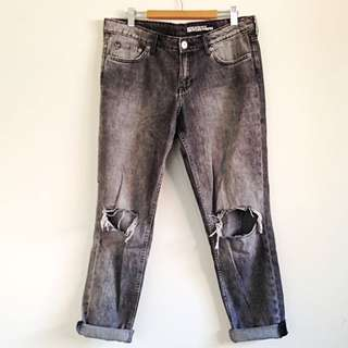 Boyfriend Jeans Ripped Knee H&M