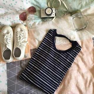 💖 ASOS Striped Mid Length Tee