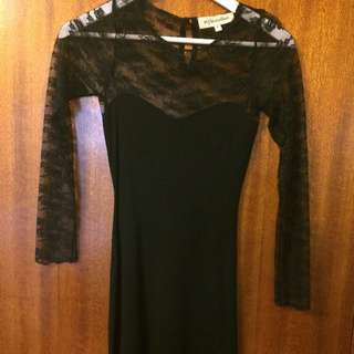 Black Long Sleeve Lace Dresa