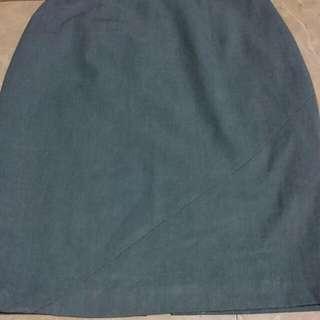 Mphosis Light Grey Skirt Office Look