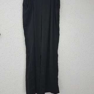 Black Wide-Leg Trousers (Size M) Unused,tag Still On.