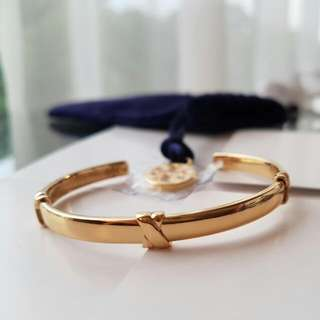 Like NEW Tory Burch Wrapped Bar Cuff In Gold