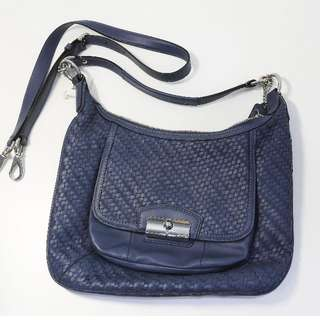 Coach Kristin Woven Leather Hobo Bag