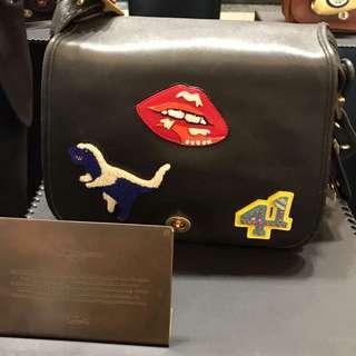 Rare Vintage Coach 75th Anniversary Glovetan Varsity Shoulder Bag