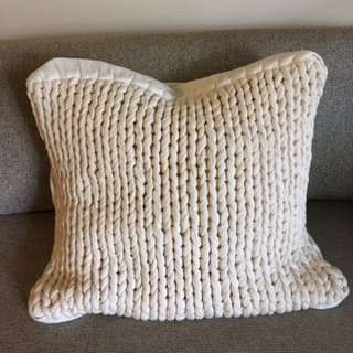 Country Road Pillow cases (knitted, white, offwhite)