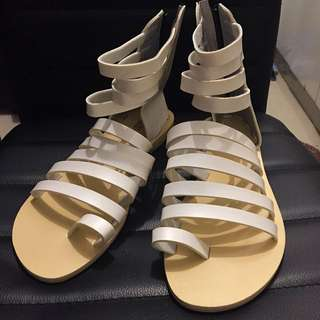 White Gladiator Shoes