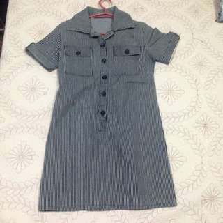 Stripes Polo Dress