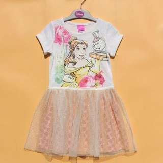 Authentic Imported  Disney Belle Tutu Dress ( 18 Months To Age 5 )