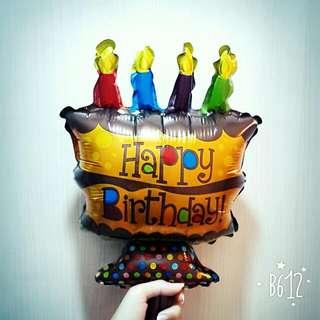 🔥【降】生日蛋糕 鋁箔造型氣球 拍照道具 慶生 派對 佈置