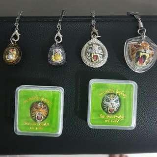 Thai Amulet.Lp Pern Temple  Tiger Amulets