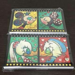 迪士尼 25週年 展場限定 筆記本 唐老鴨&黛西 米奇&米妮 🌟可換物💰購買可議價