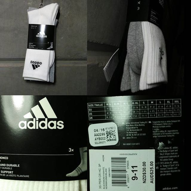 3 Adidas Original High Socks