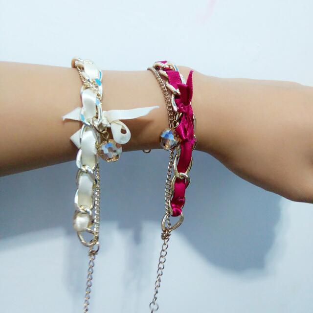 緞帶蝴蝶結手鍊