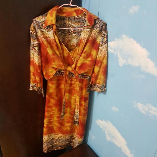 夏威夷風味復古裙