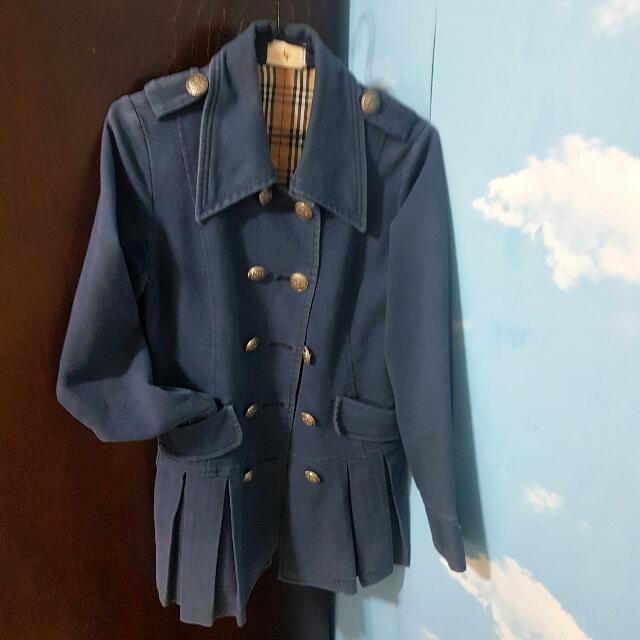 復古長版大衣