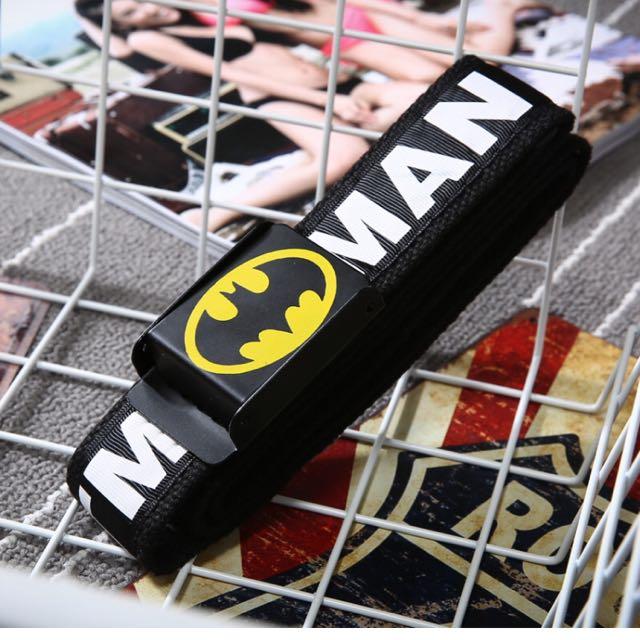 蝙蝠圖帆布腰帶