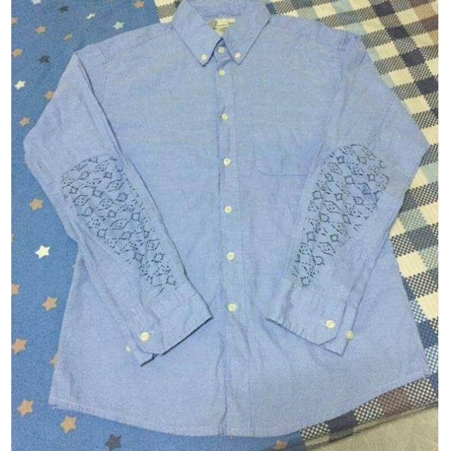 限時低價販售 VISVIM GIZA棉 拚接 水滴 淺藍色 素面 牛津 襯衫