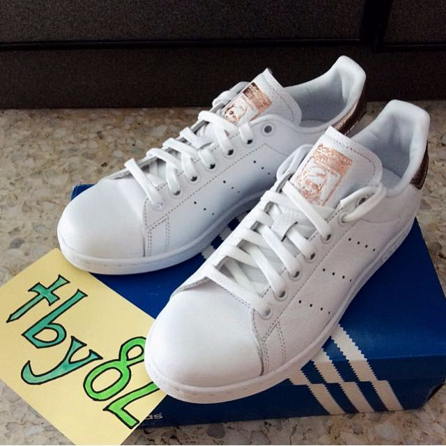 7db99eb3d309 (Sold Out!!) Adidas Womens Stan Smith Rose Gold