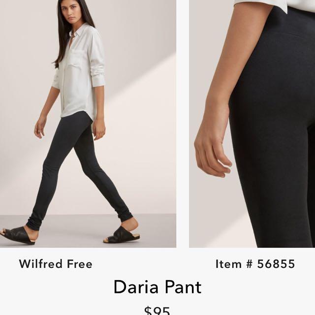 37f2a657d5e1bf Aritzia Wilfred Free Daria Pants (suede)