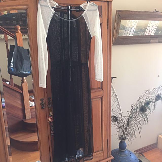 ASOS SHEER NETTED DRESS