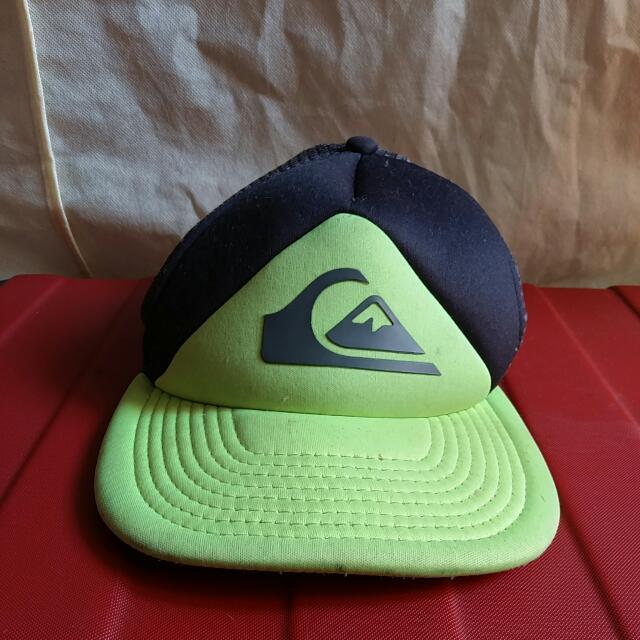 Authentic Quicksilver Cap (Neon And Gray)