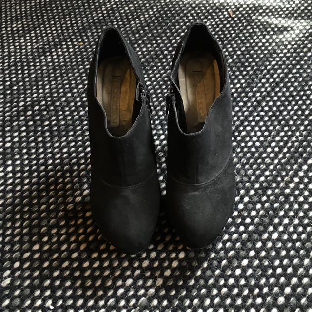 Black Pied A Terre Stiletto Boots