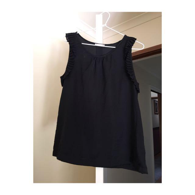 Black Singlet Silk