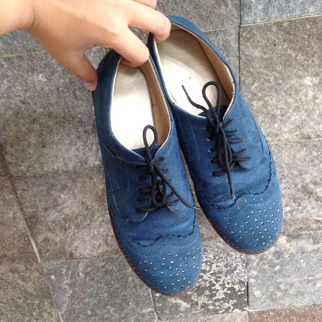 Blue Oxford Shoes ( Sepatu Wanita )