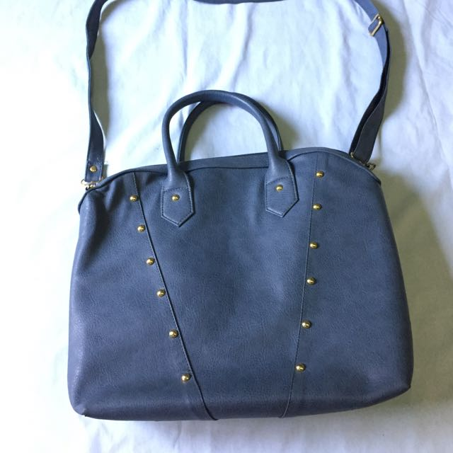 Blue Studded Bag