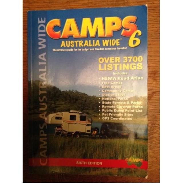 Camps Australia Wide 6 - HEMA Road Atlas, Free Camps Guide