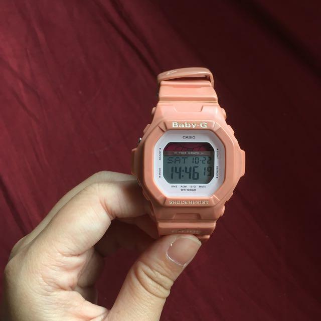 (保留)Casio Baby G 橘粉色手錶