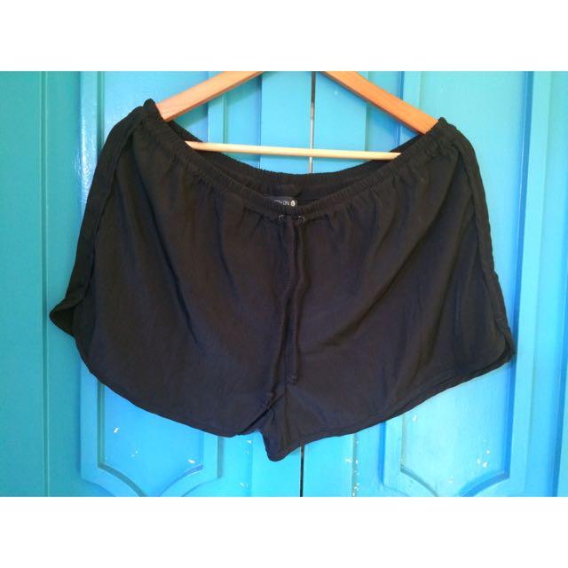 Cotton On Black Drawstring Shorts