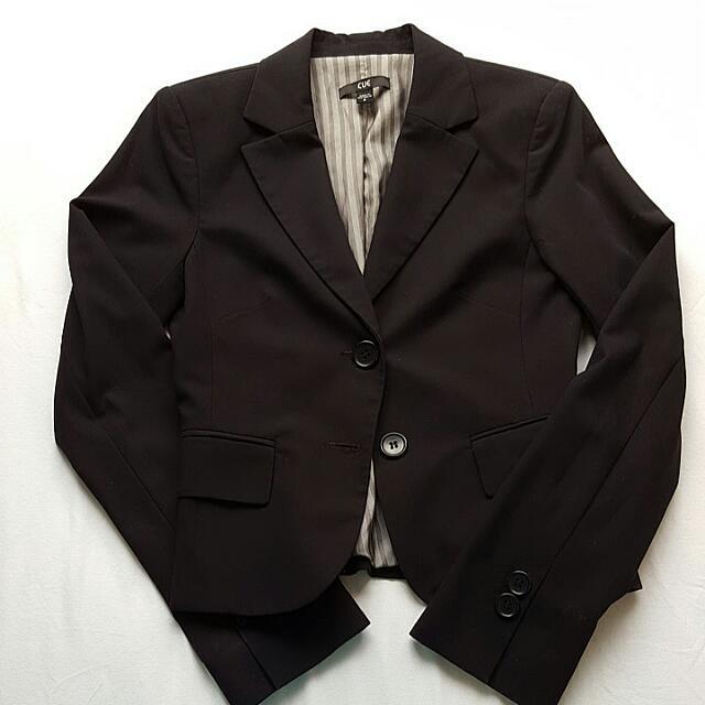 Cue Corporate Black Jacket Size 8