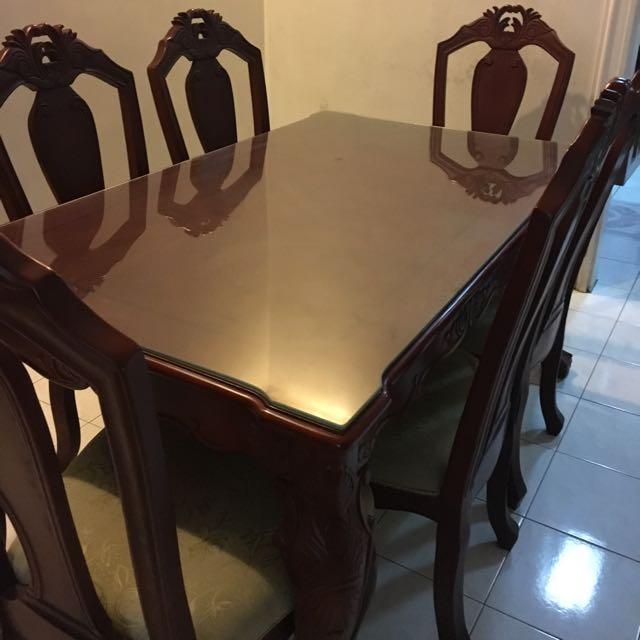 Dining Table Set - Malaysian Wood