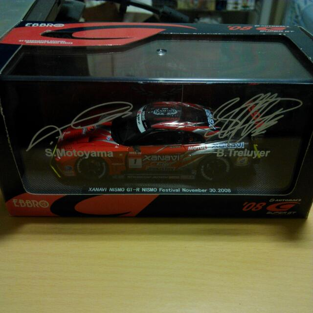 (Reserved) Ebbro '08 Limited Super GT 1:43 Nismo GTR With Signature