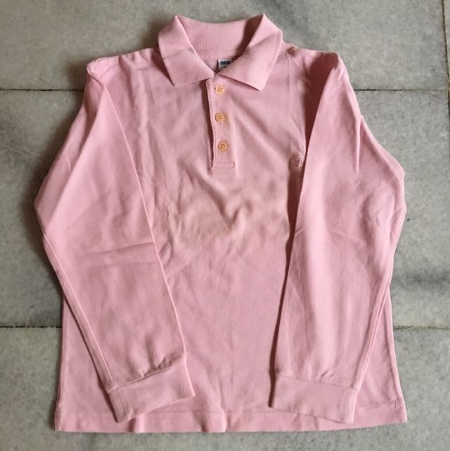 (KIDS) Pink Long Sleeve Shirt
