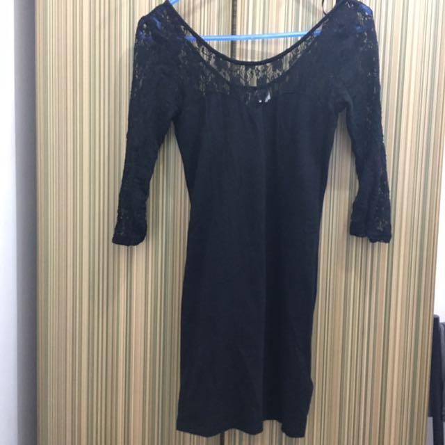Lace Black Dress 👗🌚✔️
