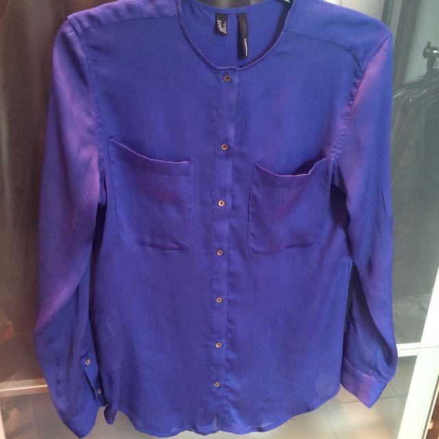 Mango Blue Shirt (size S)