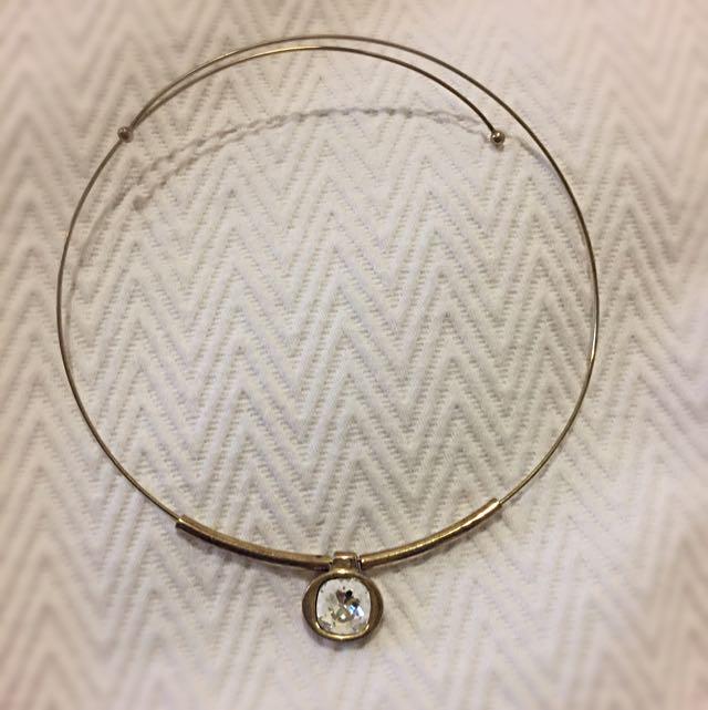 MAXUM Gold Diamanté choker