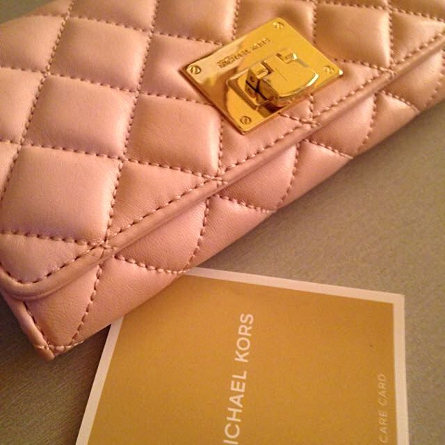58af5f710f86 MICHAEL KORS™ Astrid quilted Carry all Wallet- Blossom Pink Leather ...