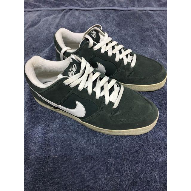 Nike Melee 滑板鞋 墨綠