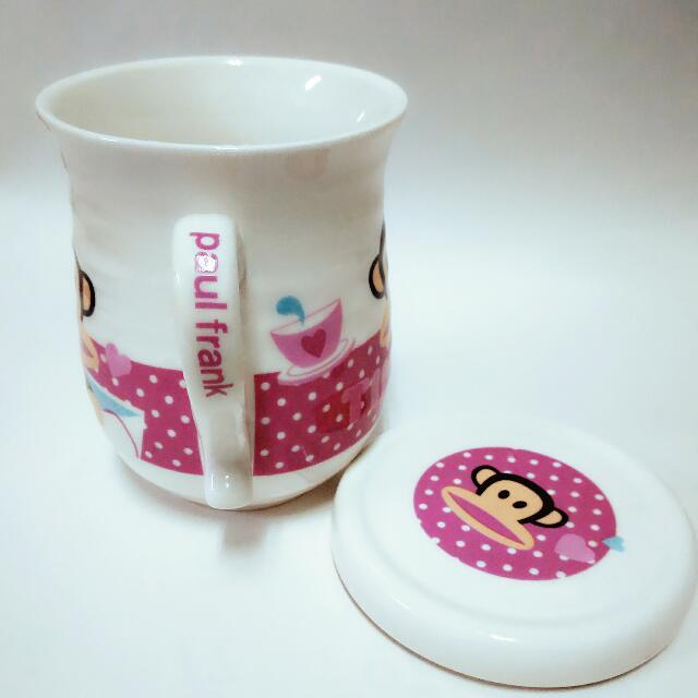 正版Paul Frank杯杯(有杯蓋)