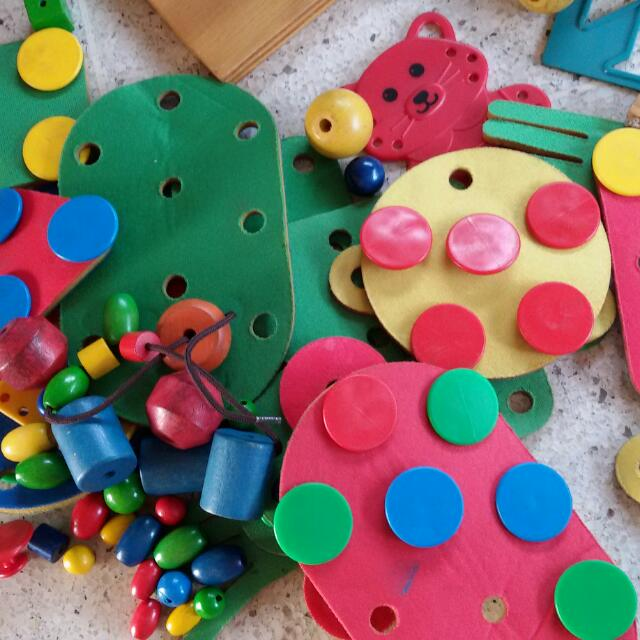 Peg Board And Wooden Beads For Occupational Therapy