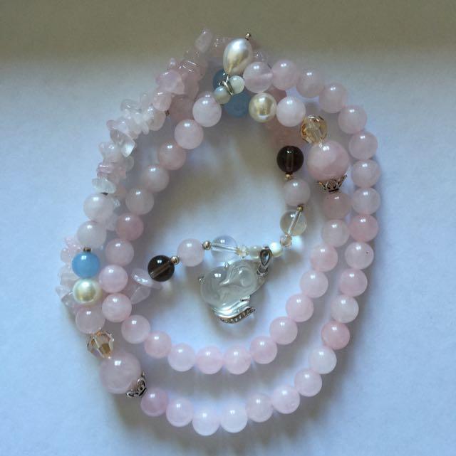 Pink Crystal 2 Ways Necklace