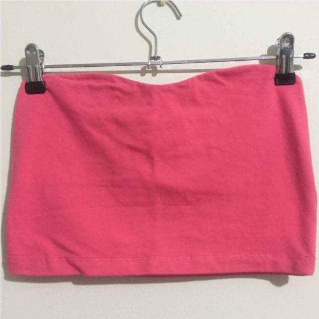Pink strapless top (size 10)