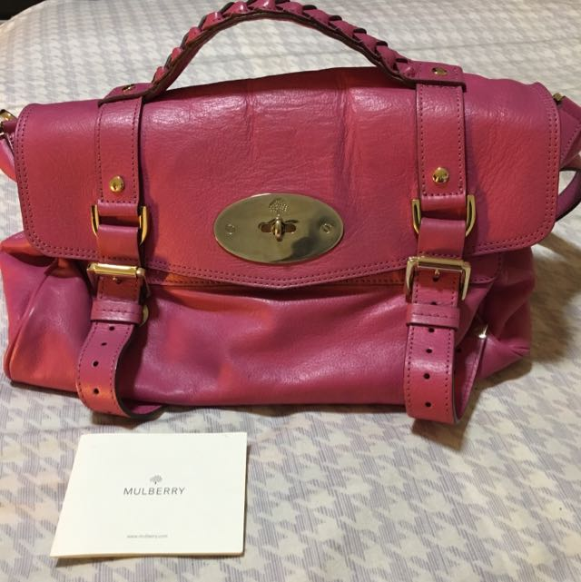 d95cf528e4b ... shop raspberry pink mulberry alexa bag luxury bags wallets on carousell  1561f eafa5