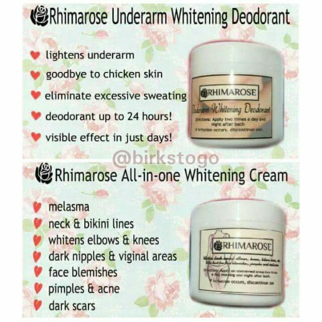 rhimarose underarm whitening cream and all in one whitening cream