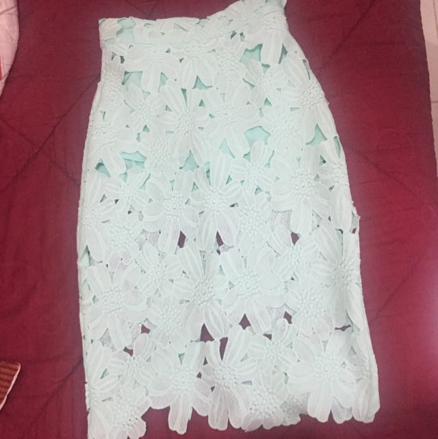 Rok Warna Hijau Mint