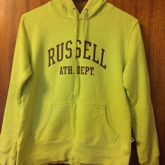 Russell Hoodie Lime Green